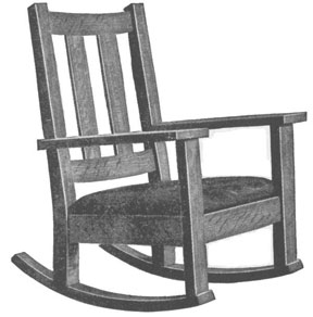 Mission Style Rocking Chair plans
